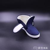 防靜電棉鞋冬季加厚高幫男女PU軟底藍色PVC底防滑鞋車間工作鞋 麥吉良品