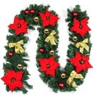 DIY聖誕200cm樹藤+三角旗+聖誕彩旗-聖誕樹 +.金球5cm17入(紅.金.銀各1組)