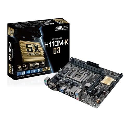 華碩 ASUS H110M-K D3   支援DDR3/DDR3L 相容性【刷卡含稅價】