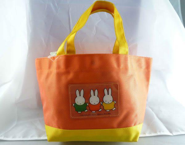 【震撼精品百貨】Miffy 米菲兔米飛兔~寬底平口帆布手提袋『牽手』