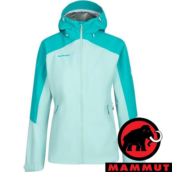 【MAMMUT 長毛象】Convey女GT單件式連帽外套『暗綠瓷/冰冷霜』1010-28800 外套 羽絨 保暖 禦寒