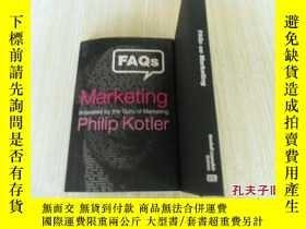 二手書博民逛書店英文原版罕見菲利普·科特勒 《市場百事通》 FAQs on Marketing: Answered by the