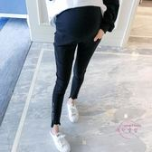 孕婦長版 孕婦褲子新品可調節托腹褲長版潮媽外穿時尚九分褲休閒鉛筆褲