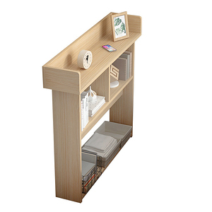 【Incare】開放式木質三層收納櫃(120X24X97cm)橡木