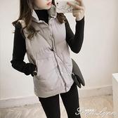 冬季馬甲女短款加厚保暖馬褂韓版學生寬鬆背心女秋冬棉服坎肩外套 范思蓮恩