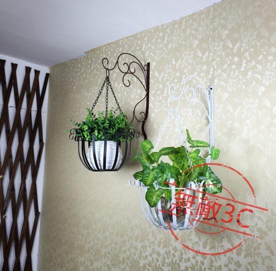 歐式鐵藝壁掛花盆架綠蘿壁掛花架掛墻墻上室內陽台懸掛吊蘭花架快速出貨下殺89折