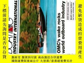 二手書博民逛書店Boating罕見industry INTERNATIONAL (magazine) 02 2001 劃船業學術奇
