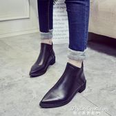 切爾西靴短靴短百搭筒單靴女靴子尖頭粗跟裸靴女鞋子潮·蒂小屋