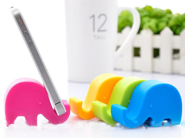 可愛糖果色大象手機座 平板架 筷架 筆架 名片座 療癒小物 【SV6114】BO雜貨
