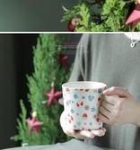 全館79折-馬克杯cybil美式厚實大容量聖誕金色雪帽雪花早餐杯馬克杯480ml