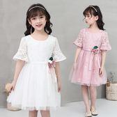 女童夏季連衣裙2018新款韓版蕾絲公主裙洋氣裙子 LR421【歐爸生活館】