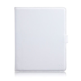 【A Shop】Simplism 側掀式真皮皮套-for iPad(雪花白色)