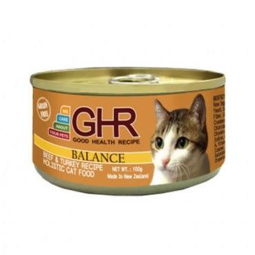 PREMIER 健康主義 GHR無榖牛肉、火雞肉配方貓用主食罐 100G x 24入