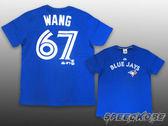 創信 MLB 短袖 號碼T 短T 大聯盟 藍鳥 Wang 王建民 #67 藍 6330267-550【Speedkobe】