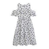 2018夏裝新款韓版女童裙子連身裙波西米亞露肩兒童沙灘裙度假長裙   LannaS