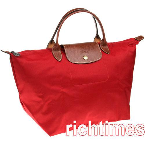 LONGCHAMP水餃大提包(紅)LC089421
