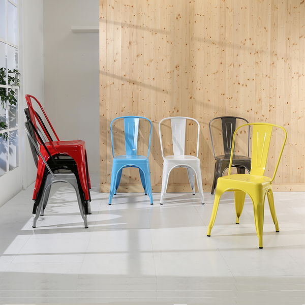 《百嘉美》法國Tolix 工業風格餐椅(七色可選) 會客椅 洽談椅 復古椅 電腦椅 書桌 辦公桌 I-EB-CH089