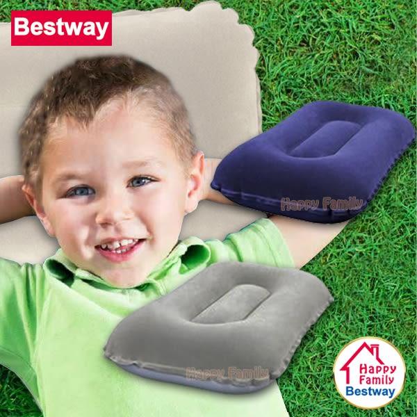 Bestway 兩色可選-方形雙面植絨充氣枕頭/旅行枕/辦公靠枕/午睡枕/充氣枕/護頸枕/登山露營(67121)