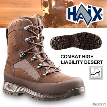 德國HAIX COMBAT HIGH LIABILITY DESERT 高優質戰鬥高筒鞋
