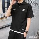 Polo衫短袖T恤男士夏季休閒寬鬆2020新款韓版潮流時尚大碼體恤翻領衫男LXY7449【極致男人】