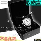 原價$399  /  錶盒 / 首飾盒 / 禮物盒 精緻皮革黑色收藏盒 附海綿枕 __Z34