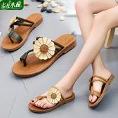 平底拖鞋牛筋底拖鞋兩穿人字拖平底涼拖鞋外穿夏季新款時尚沙灘鞋女鞋 可然精品