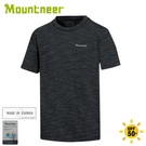 【Mountneer 山林 男 透氣抗UV圓領上衣《黑》】31P37/T恤/短袖上衣/排汗衣