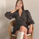 雪紡洋裝 設計感小眾法式碎花連衣裙女春夏新款顯瘦輕奢名媛氣質雪紡短裙子