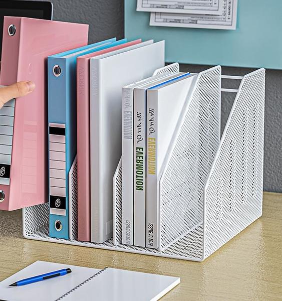 文件架 收納架 金屬文件架辦公室立式文件框多層文件夾收納盒辦公用品大全學生用資料架