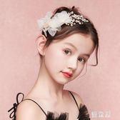兒童頭飾 公主裙配飾森系超仙婚禮花童頭花髮夾女童表演髮飾 BT10914『優童屋』