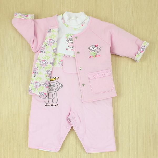 【愛的世界】小猴子背心衣連褲禮盒/6個月~2歲-台灣製- --禮盒推薦