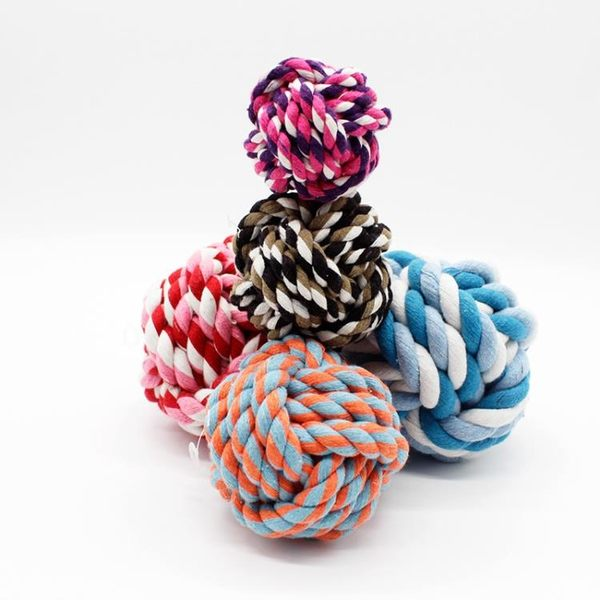 【狐狸跑跑】寵物用品 寵物玩具 狗玩具 咬繩 潔牙棉繩球 繩結球 玩具特小WJ005400