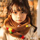 韓版兒童圍巾秋冬季節可愛寶寶圍脖男女童針織毛線保暖套頭脖套 QG9820『優童屋』