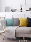 北歐抱枕正方形靠墊沙發靠枕客廳長方形靠背墊天鵝絨抱枕套 618購物節 YTL