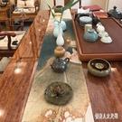 棉麻禪意印花茶桌布 中國風麻布防水長方形中式臺布茶幾桌旗 BT5209『俏美人大尺碼』
