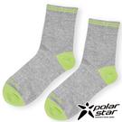 PolarStar 中性排汗中筒襪『黃綠』P17523 露營.戶外.登山.排汗襪.彈性襪.紳士襪.休閒襪.長筒襪.襪子