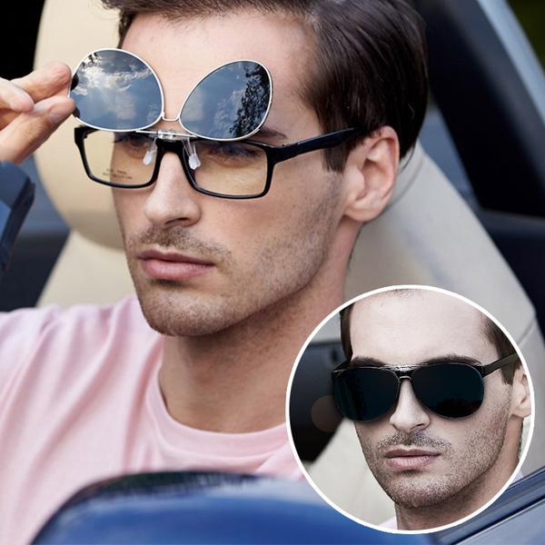 飛行太陽眼鏡夾片 可上翻墨鏡夾片《飛行夾》BLS16217