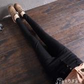 【免運快出】 高腰雙排扣牛仔褲女年春修身彈力顯瘦窄管鉛筆長褲 奇思妙想屋