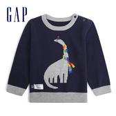 Gap男嬰兒圓領套頭舒適毛衣針織衫513968-海軍藍色
