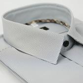【金‧安德森】經典格紋繞領白底黑細格吸排短袖襯衫