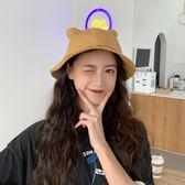 日系休閒軟妹漁夫帽子女夏天遮陽帽正韓ins甜美可愛貓耳朵盆帽潮