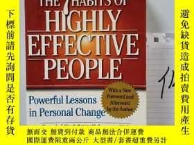 二手書博民逛書店the罕見7 habits of highly effective peopleY15335