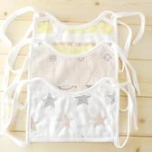 3條裝方形口罩式綁帶圍嘴寶寶新生兒純棉防水系帶圍兜嬰兒口水巾