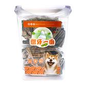 寵物家族-【潔牙一番】 雙效潔牙骨(螺旋棒)S/M 桶裝1000g