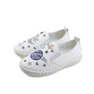 CONNIFE  休閒鞋 懶人鞋  白色 貼鑽 童鞋 2633-01 no529