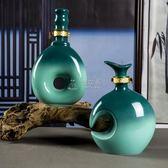 聖誕節酒壺 500ml創意陶瓷酒瓶景德鎮1斤裝酒罐酒壺酒壇子空白酒瓶子一斤 俏女孩