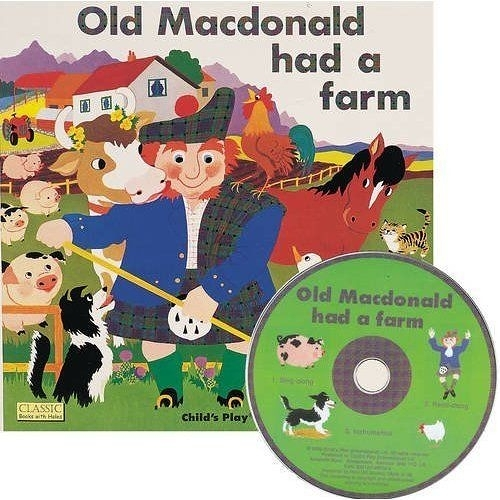 Classic Books With Holes:Old Macdonold Had A Farm 王老先生有塊地 童謠洞洞CD故事書
