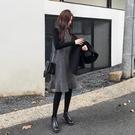 孕妇装洋裙 春裝2021新款孕婦連衣裙子中長款格子背心兩件套裝春秋季【快速出貨八折搶購】