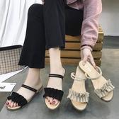 羅馬涼鞋女學生百搭夏季新款平底拖鞋 週年慶降價