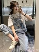 背帶褲春夏季2020流行新款韓版鹽系網紅寬鬆洋氣減齡小雛菊牛仔背帶褲女 熱賣 suger